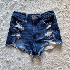 High waisted shorts- size 0
